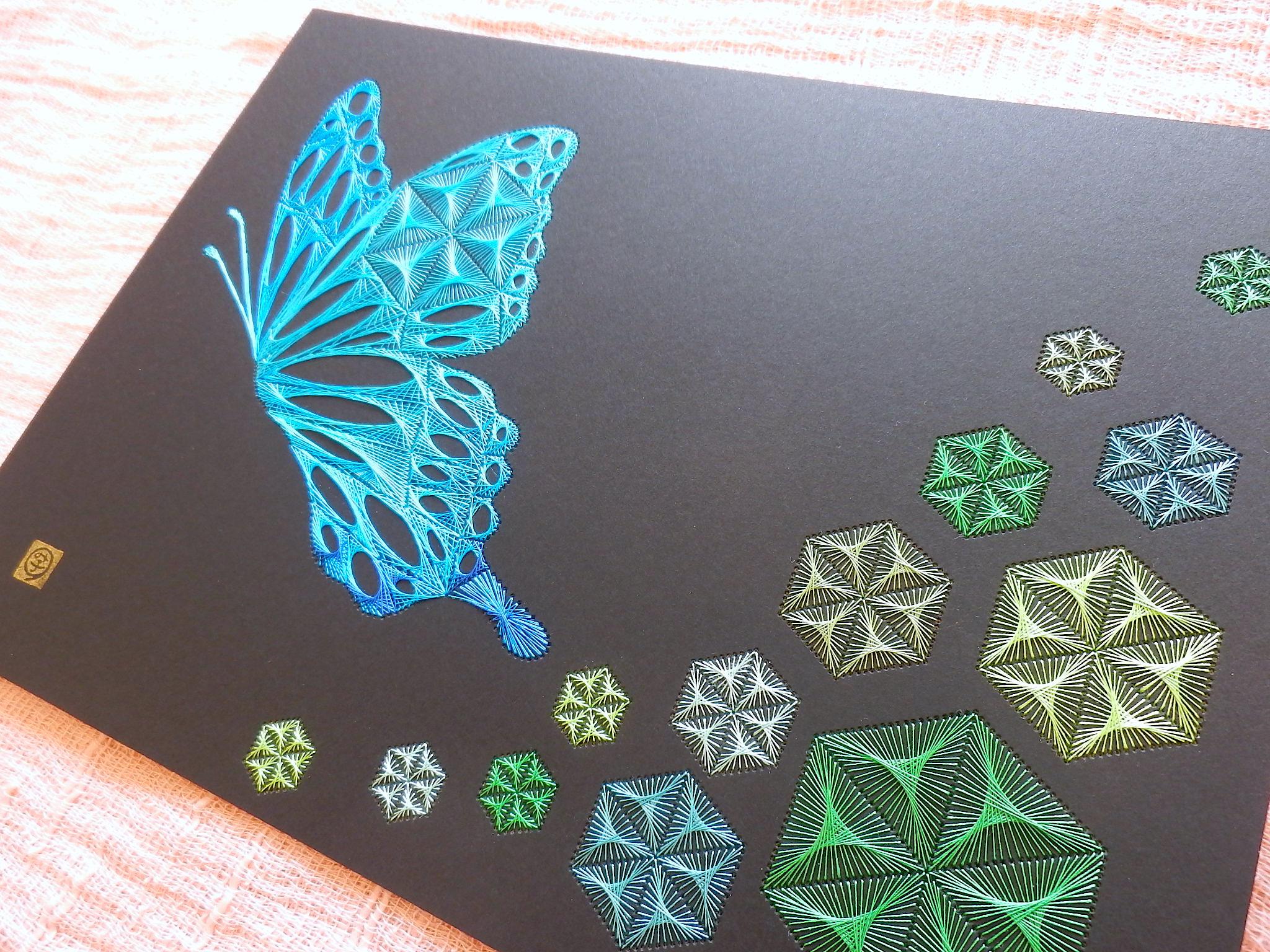 麻の葉と蝶弐4