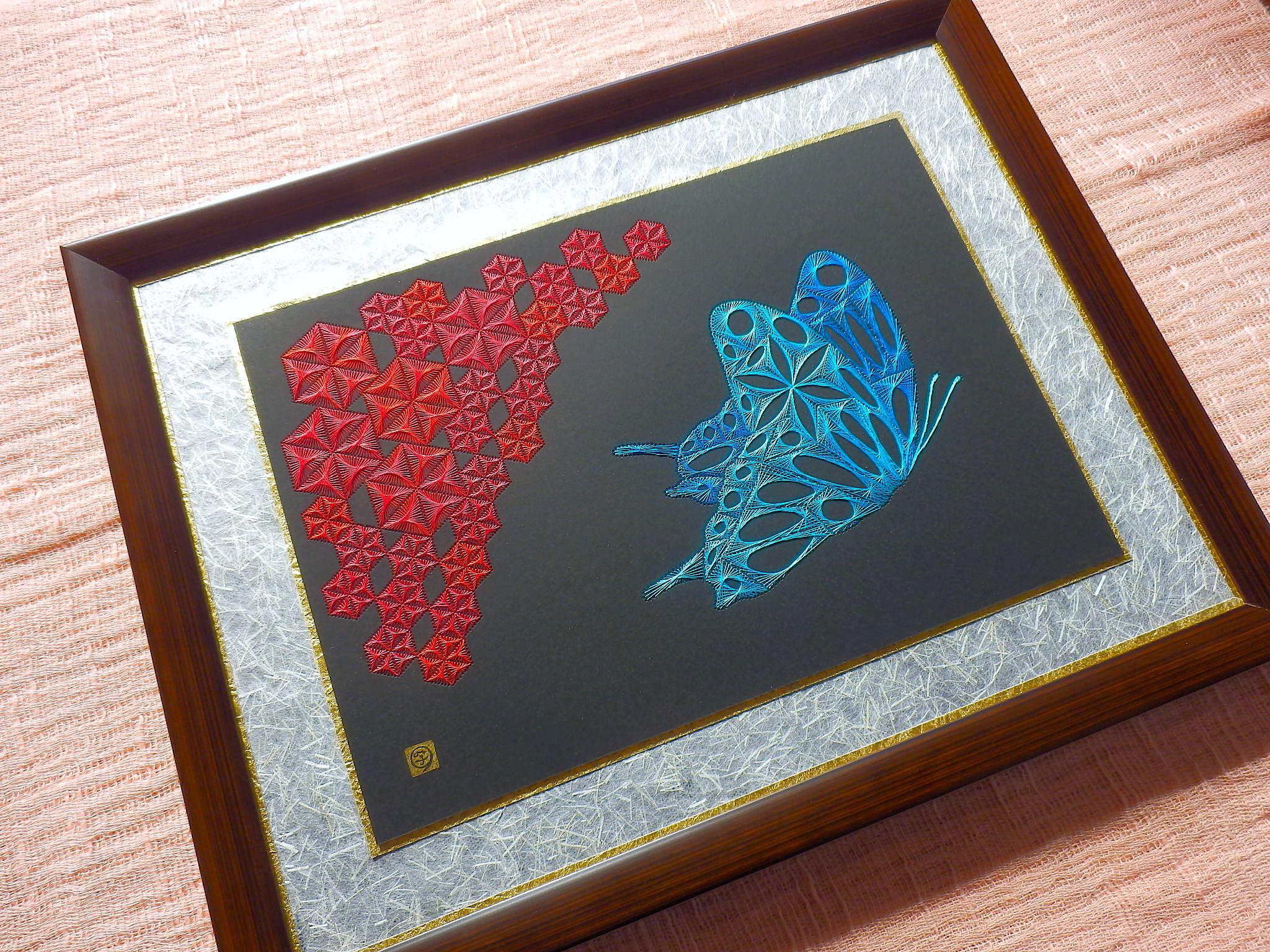 麻の葉と蝶壱3