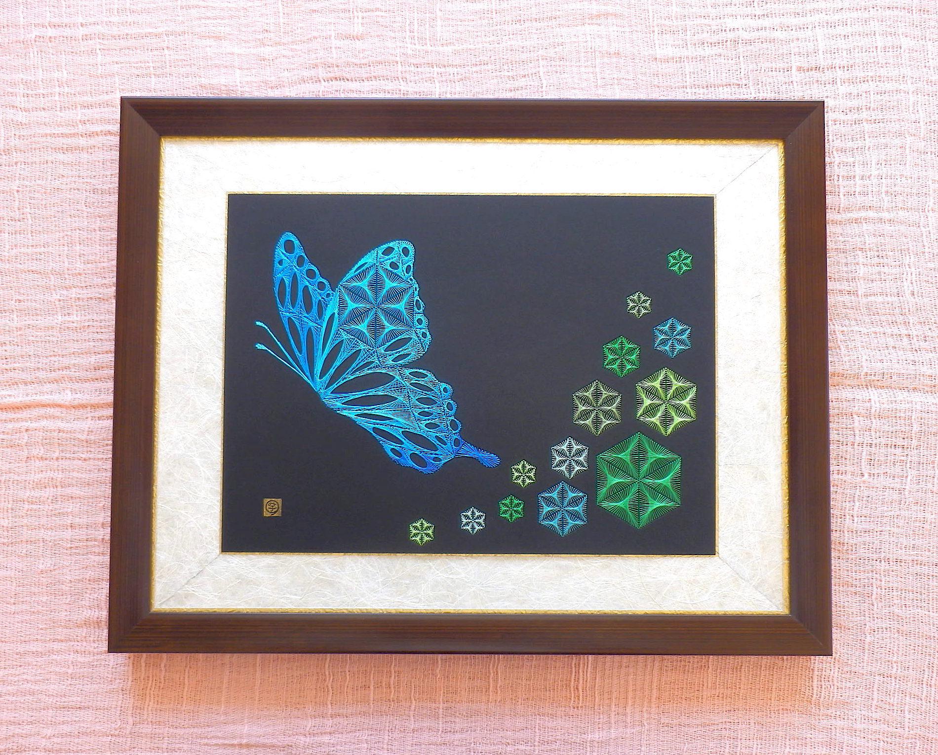 麻の葉と蝶弐1