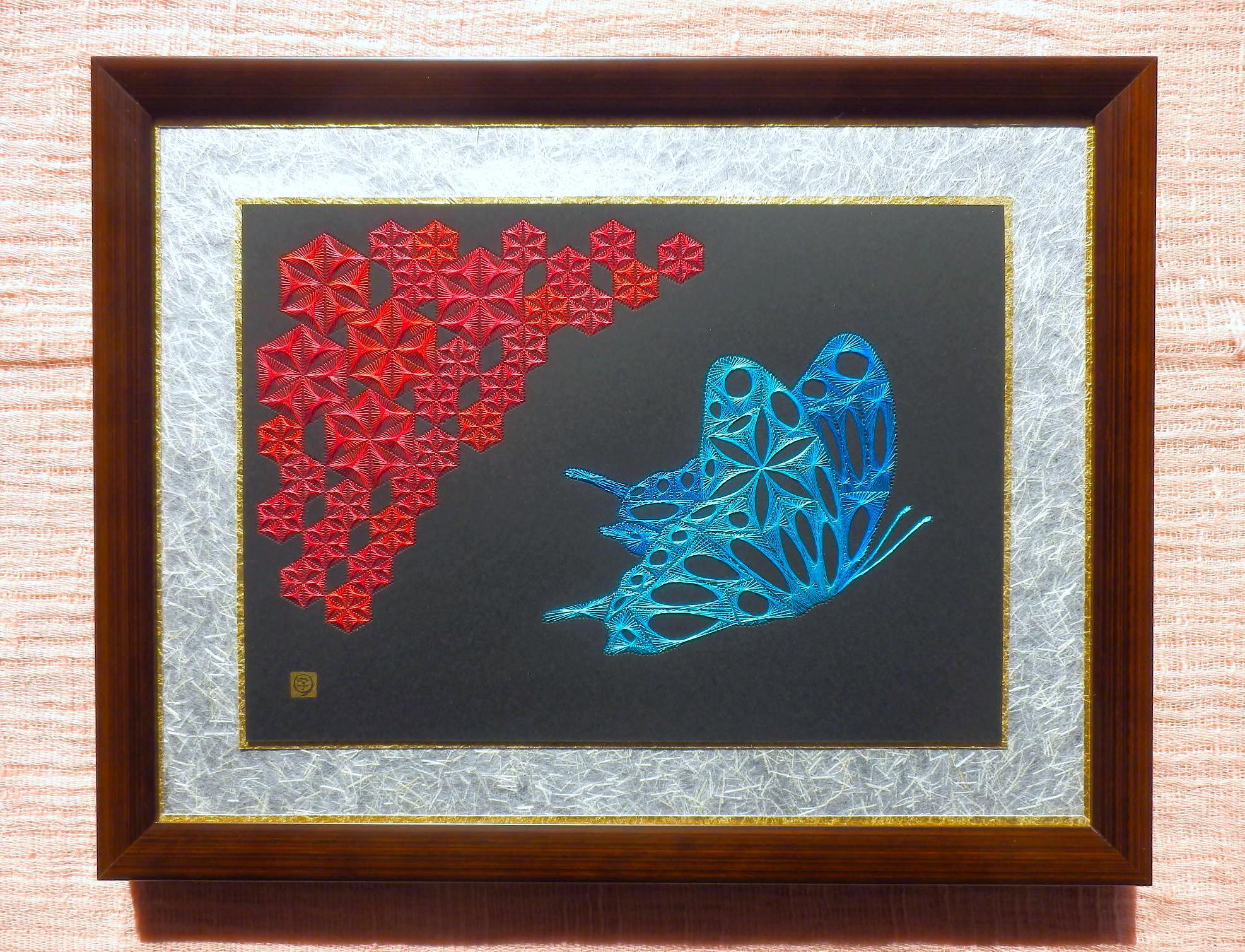 麻の葉と蝶壱1