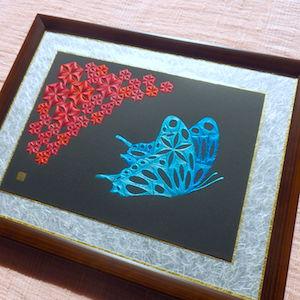 麻の葉と蝶 壱
