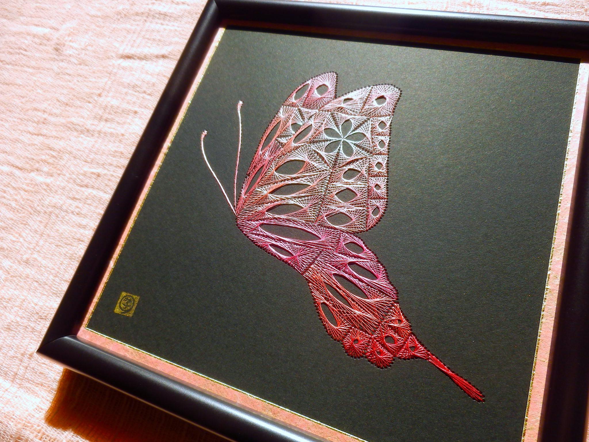 ピンクの蝶3