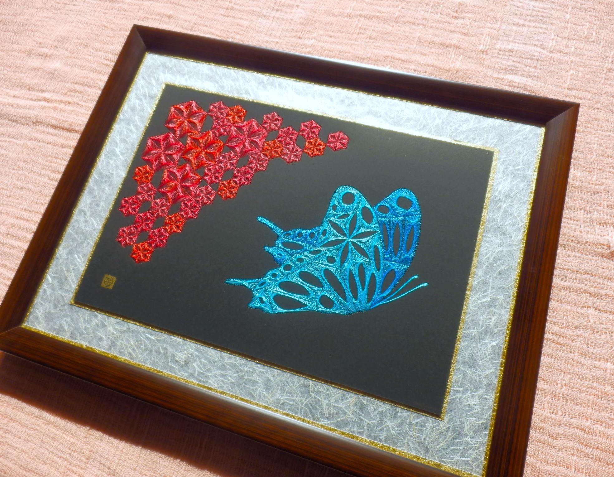 麻の葉と蝶壱2