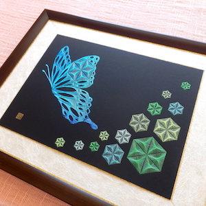麻の葉と蝶 弐