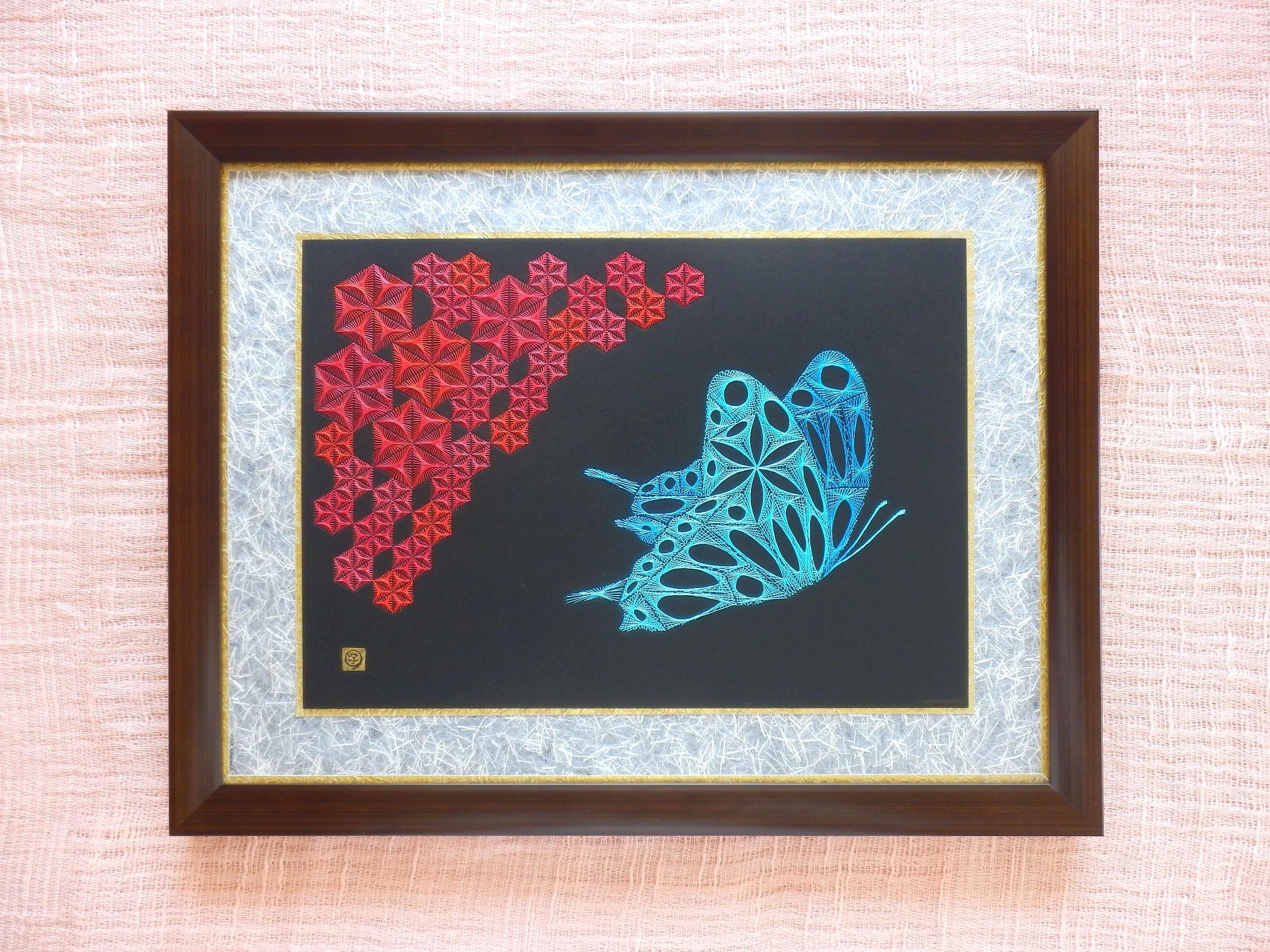 麻の葉と蝶 壱 糸とおし