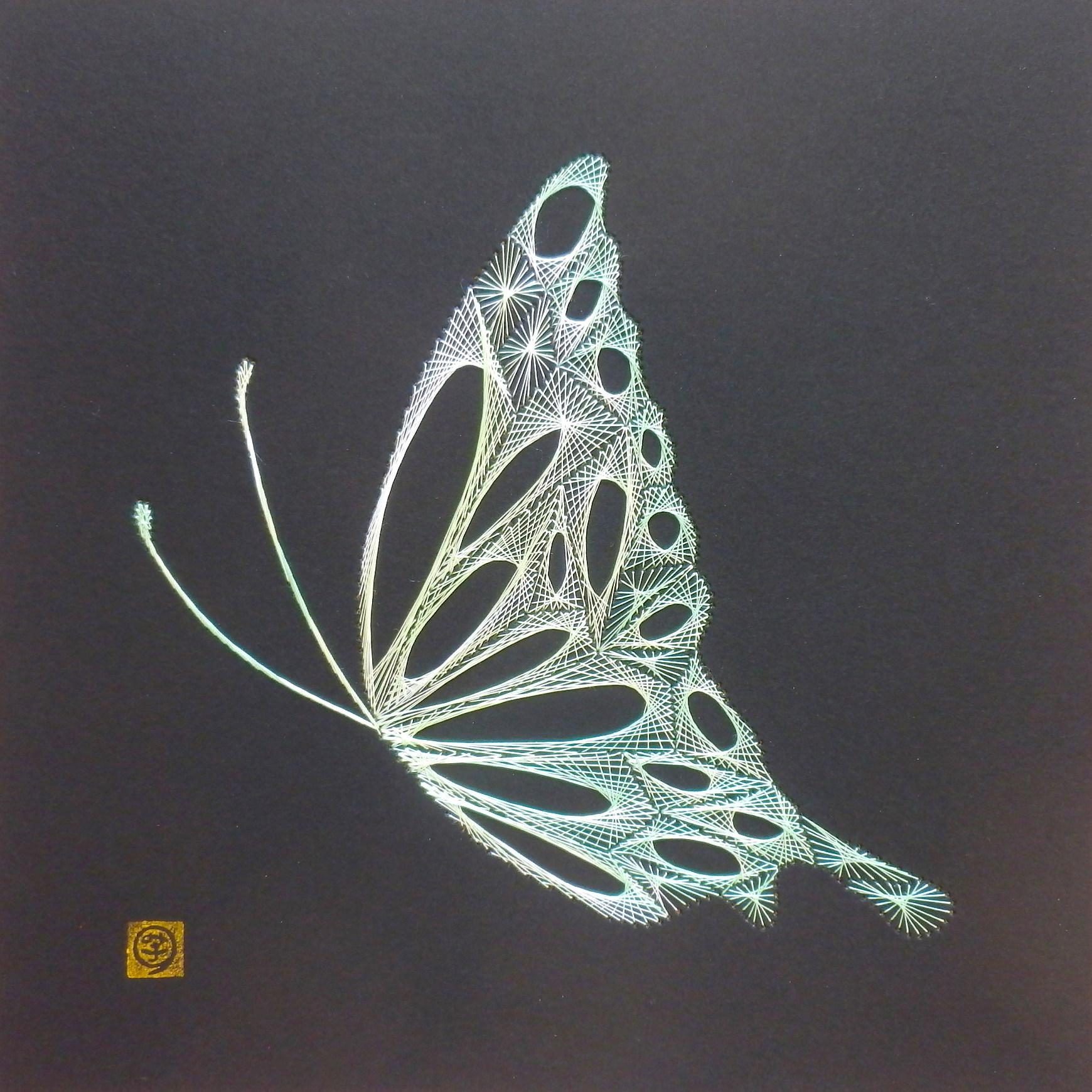 糸とおしワークショップ 蝶