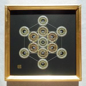 神聖幾何学メタトロンキューブⅡ (額縁付)