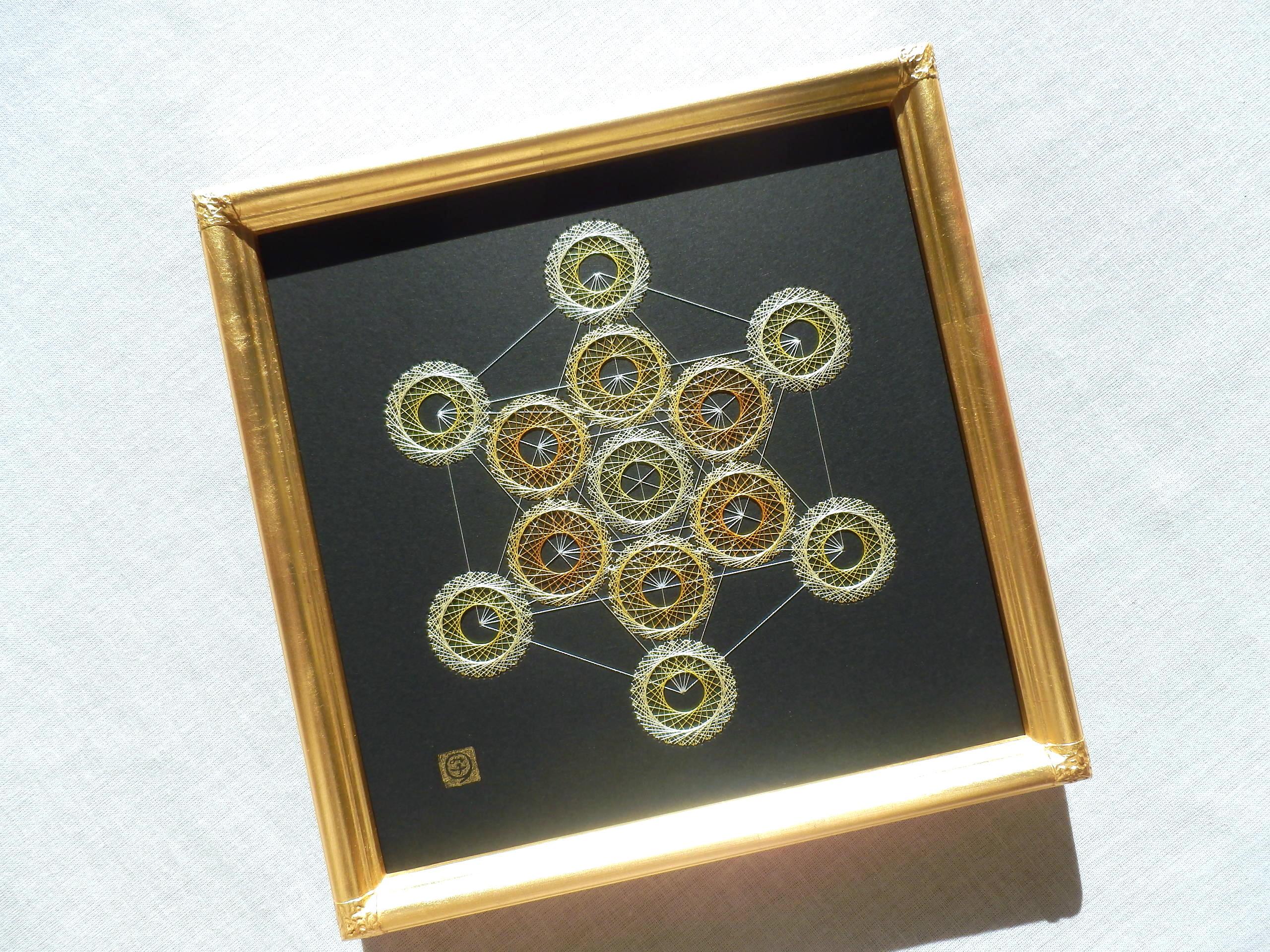神聖幾何学 メタトロンキューブ 【糸とおし】