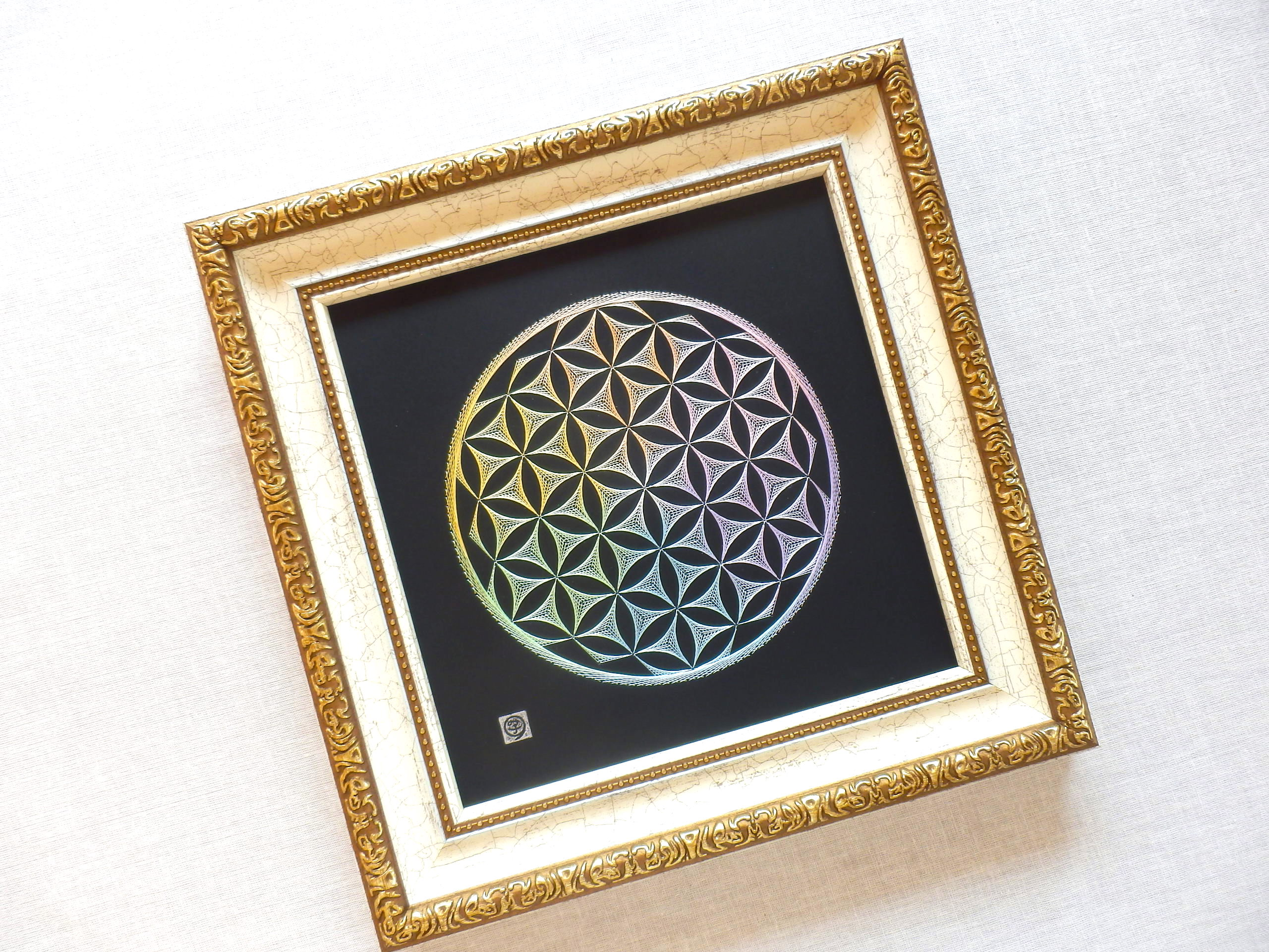 神聖幾何学 フラワーオブライフ 【糸とおし】