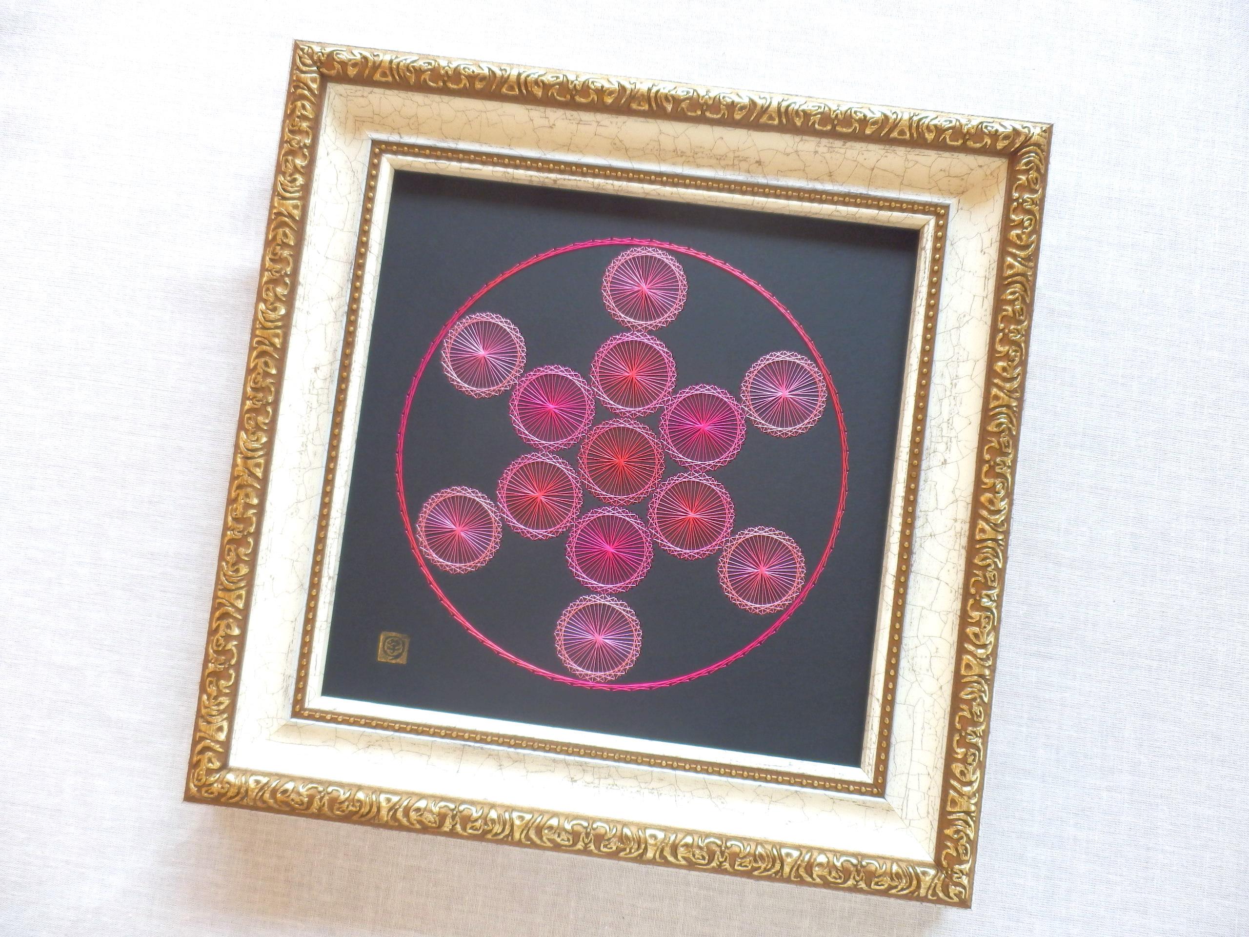 神聖幾何学 フルーツオブライフ 【糸とおし】