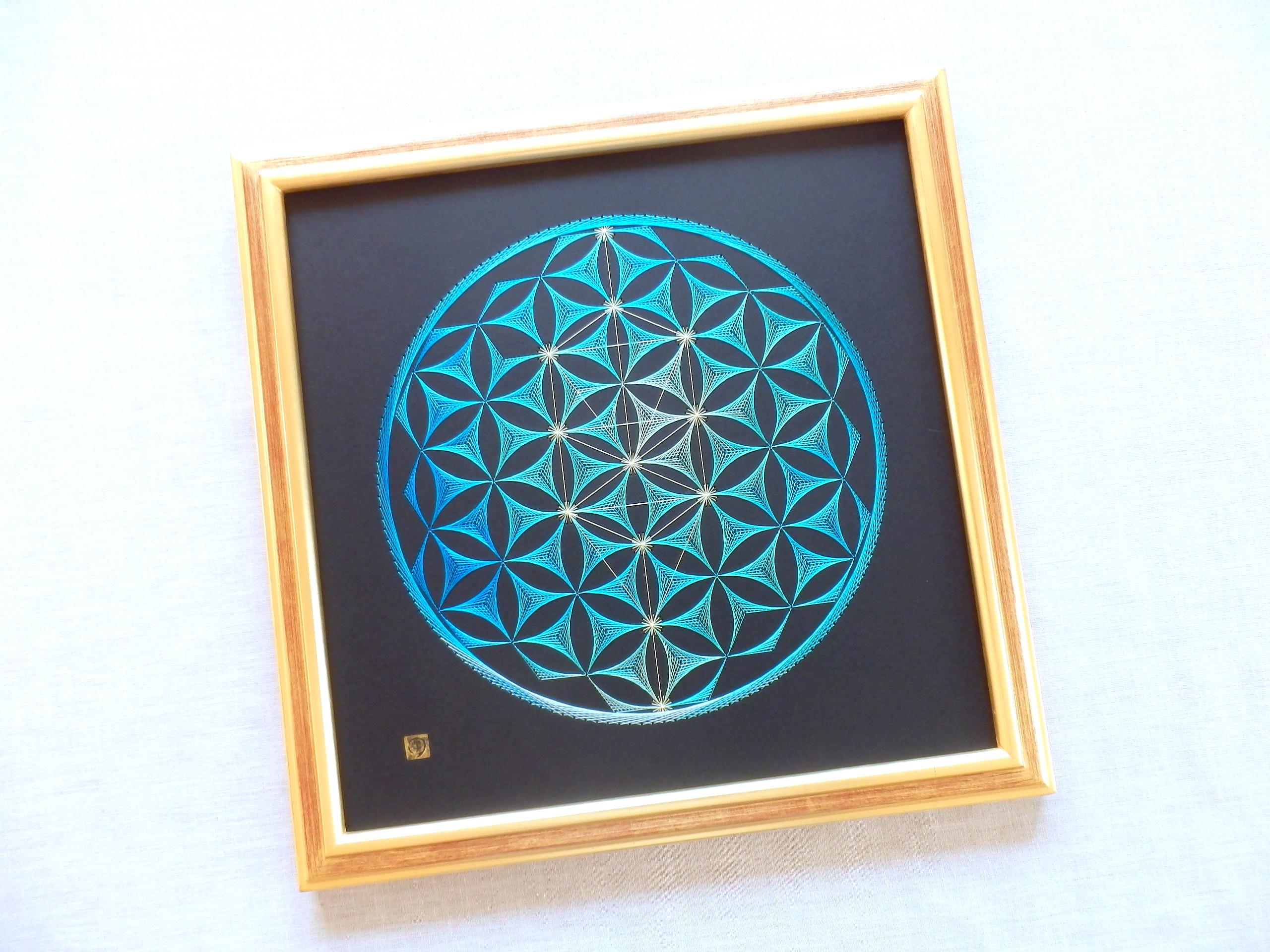 神聖幾何学 フラワーオブライフ ツリーオブライフ 【糸とおし】