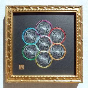 神聖幾何学エッグオブライフ (額縁付)