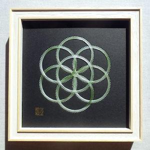 神聖幾何学シードオブライフ (額縁付)