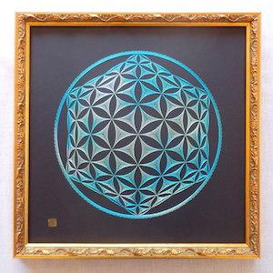 神聖幾何学フラワーオブライフ 3D (額縁付)