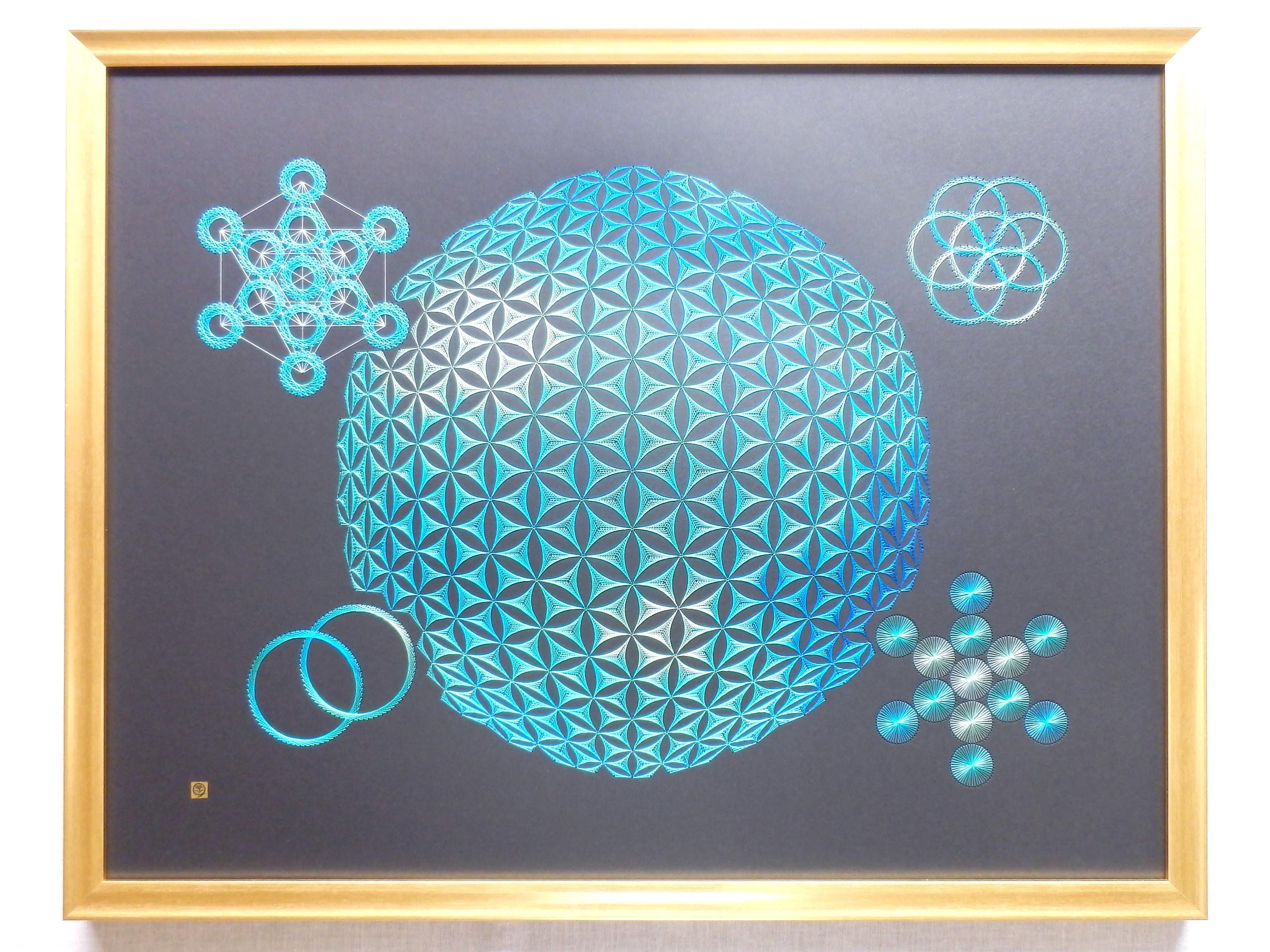 blue sacred geometry 13