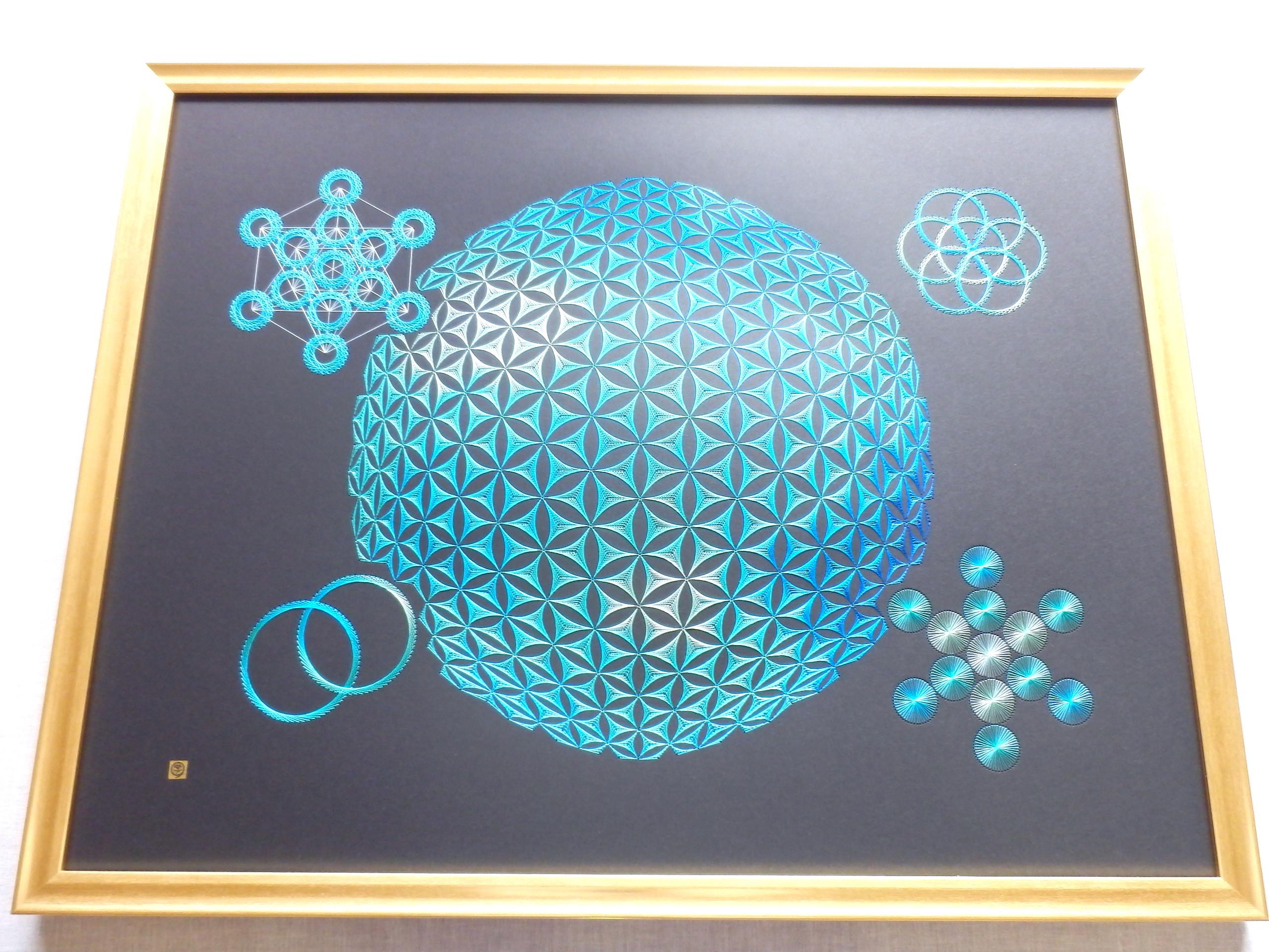 blue sacred geometry 7