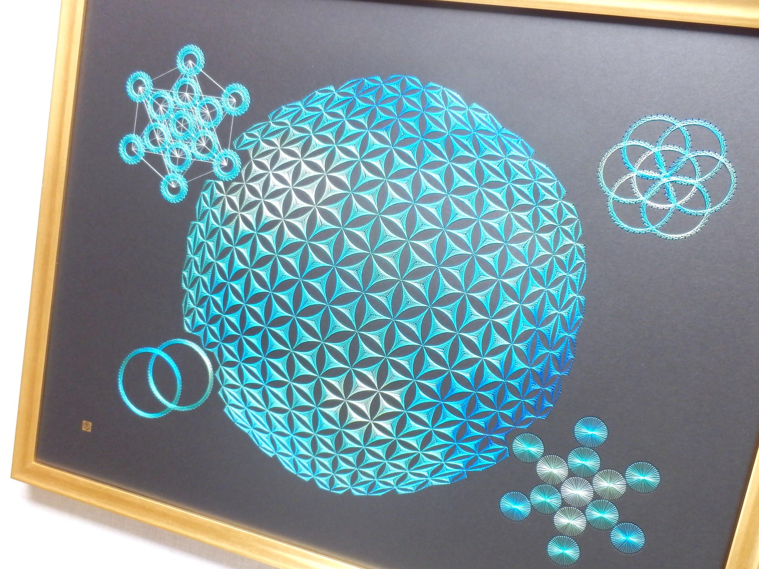 blue sacred geometry 3