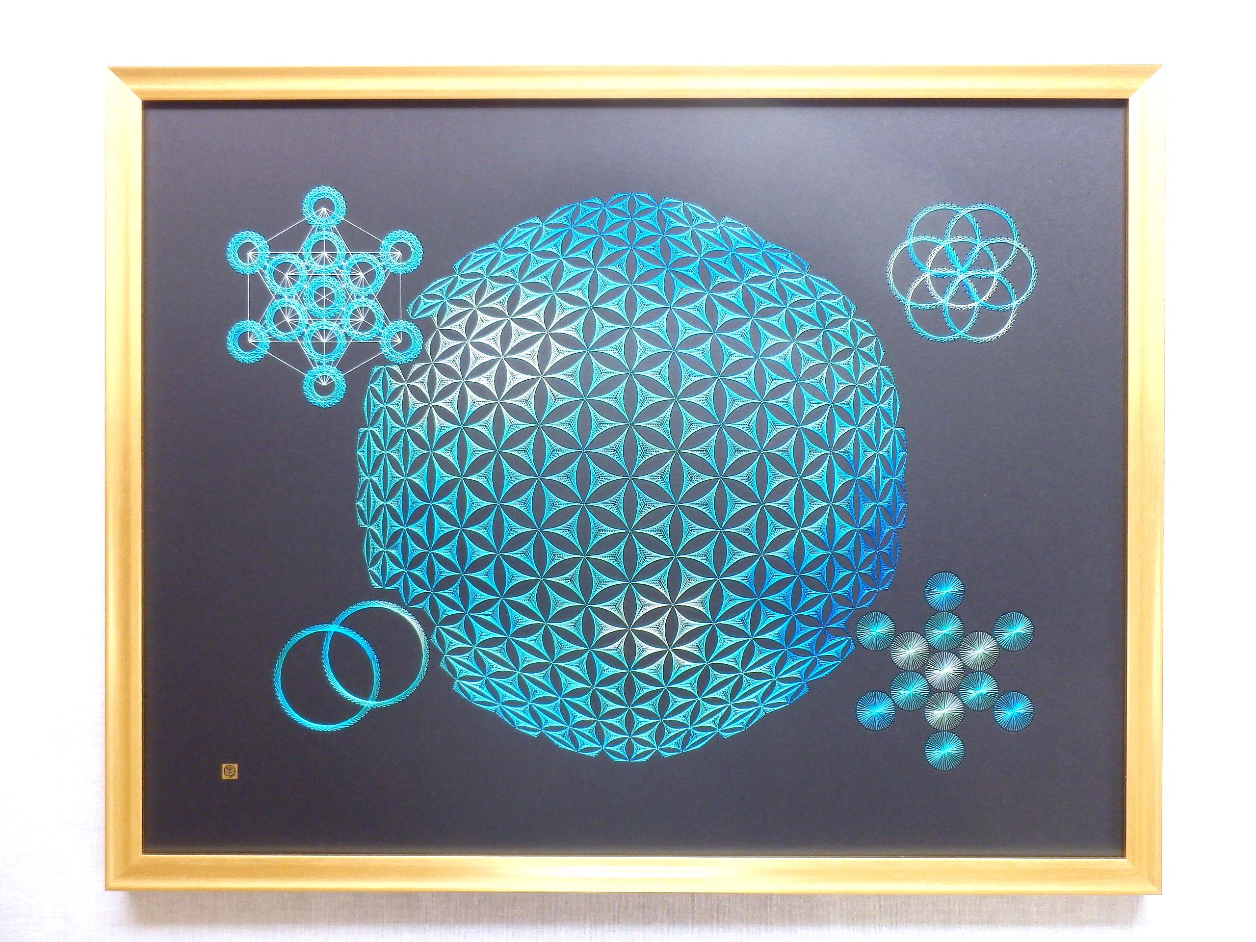 blue sacred geometry 2