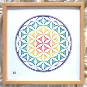 chakra-flower of life (額縁付)
